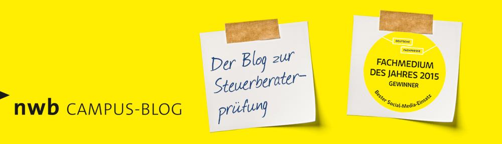 NWB Campus Blog – Der Blog zur Steuerberaterprüfung